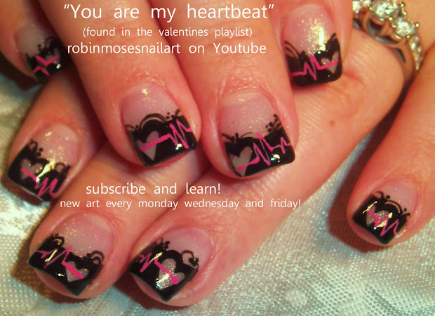 Valentine's Day Nails Robin Moses