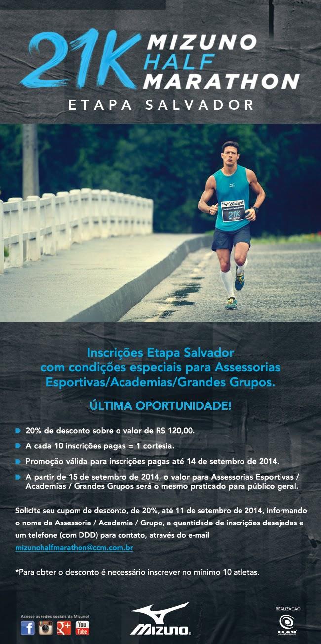 15410b1a16f Mizuno Half Marathon Etapa de Salvador entra nos últimos dias do período  para as inscrições · bahiarun.com.br