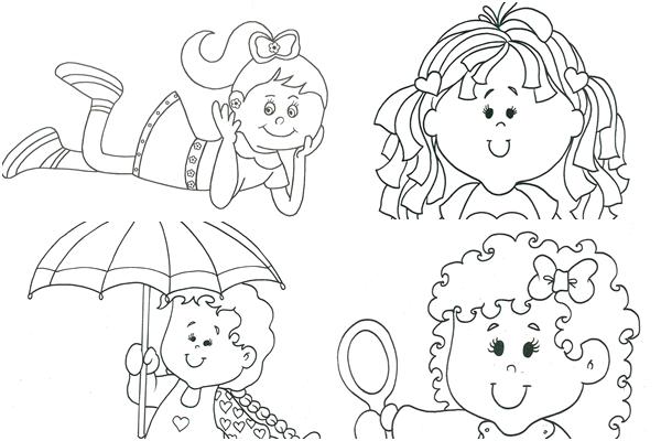 Desenho Para Colorir Para Menina: Desenho De Menina Kawaii