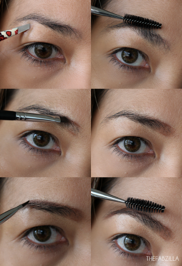 how to ombre brows to match ombre hair, eyebrow tutorial