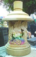 Lampion taman minimalis motif bunga sepatu