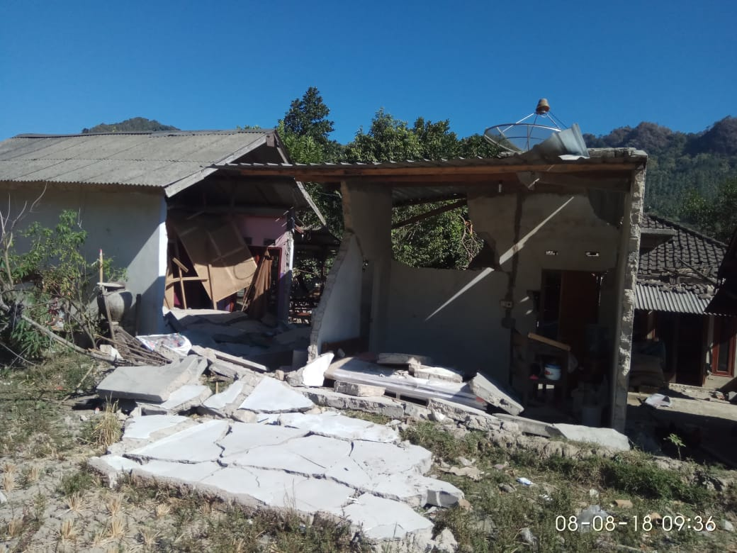 Data Korban Gempa Lombok Utara Bsmi Jatim Rumah Untuk Kondisi Di Dsn Bhentek Pemenang Belum Tersentuh Bantuan