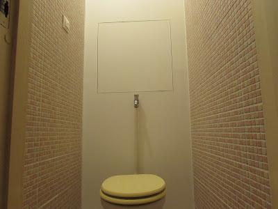 Panel gipszkarton WC hátfal, Budapest, III. Kaszásdűlő