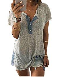 Buy Women's Henley  Short Sleeve Tunics Shirt Dress From Amazon Through Online