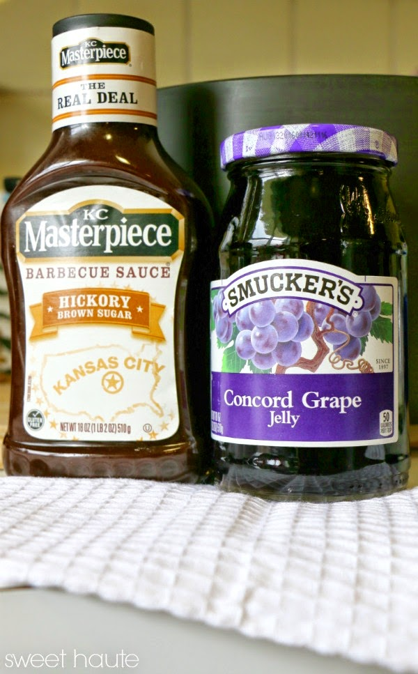 BBQ Meatballs grape concord jelly recipe for slow cooker crock pot savory sweet