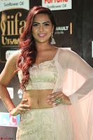 Prajna Actress in backless Cream Choli and transparent saree at IIFA Utsavam Awards 2017 0076.JPG