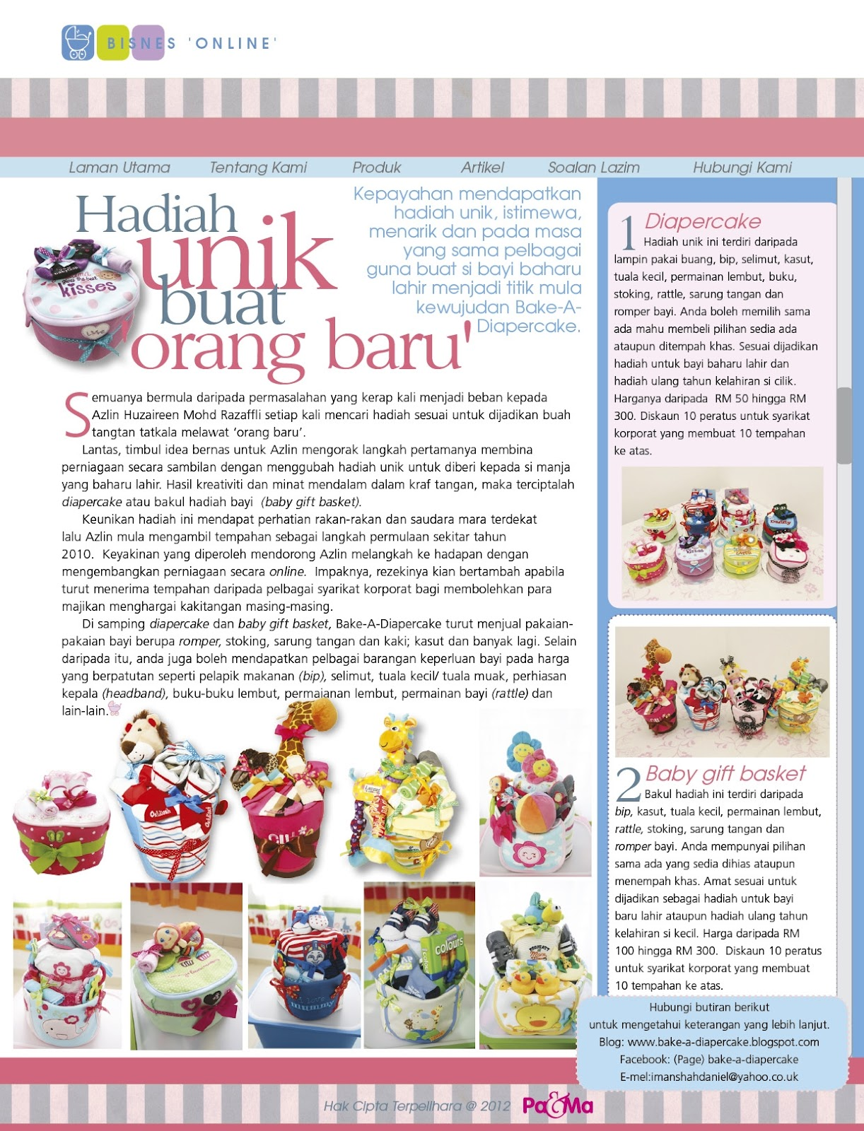 Bake A Diapercake February 2012 Hadiah Gift Voucher Ikea Pama March Issue