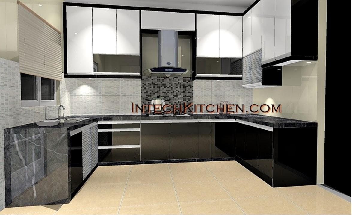 Lakaran Kabinet Dapur Bentuk L Desainrumahid