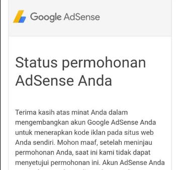 Penyebab Daftar Adsense Google Berkali-kali
