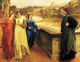 Dante y Beatrice, por Henry Holiday
