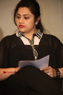 Tamil Actress Meena Latest Stills in Black Dress at TSR TV9 Awards Press Meet  0081.JPG