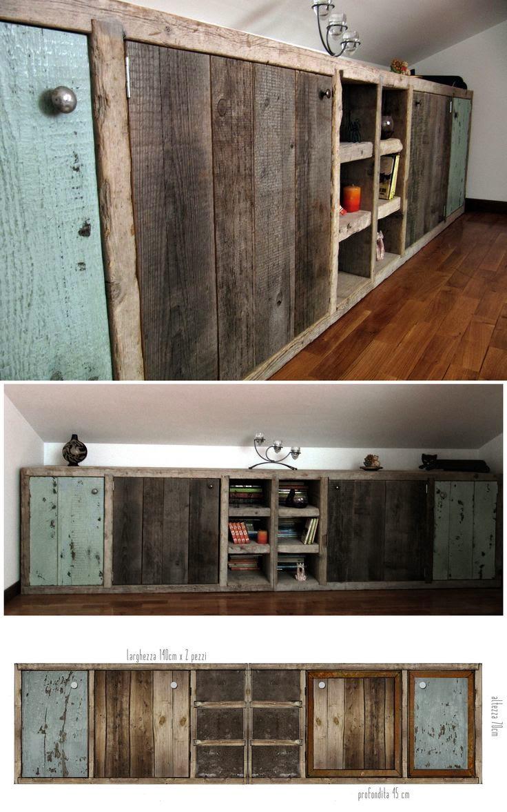 Design craft arredi in legno di recupero for Arredi in legno