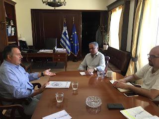 Στον Υπουργό Εσωτερικών Πάνο Σκουρλέτη ο Δήμαρχος Αχαρνών Γιάννης Κασσαβός