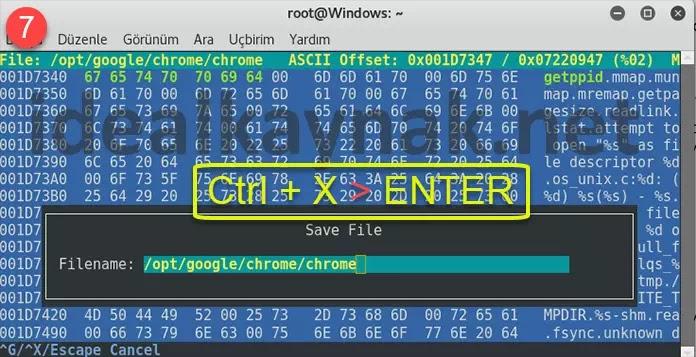 Google Chrome Linux ta Root ile Çalıştırma