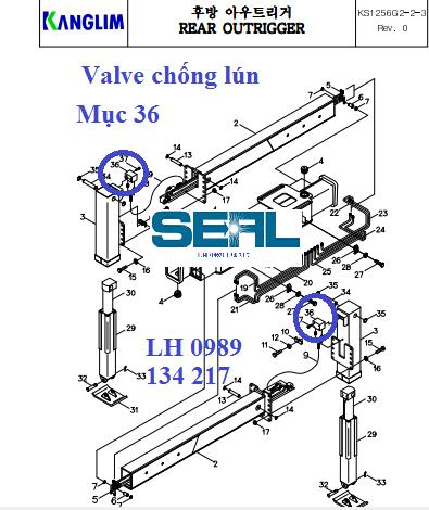 Valve chống tụt chân cẩu Kanglim 6 tấn KS1253-KS1254-KS1255-KS1256-KS1256G -H1022168
