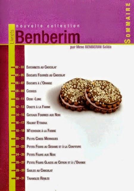 livre gateaux secs benberim