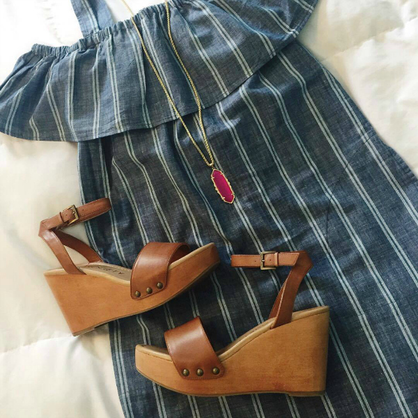 chambray dress, sole society