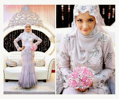 Gaun Pengantin Muslimah Kebaya