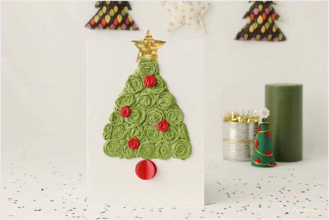 postal-navidad-diy-materiales-reciclados-abeto-servilletas-papel