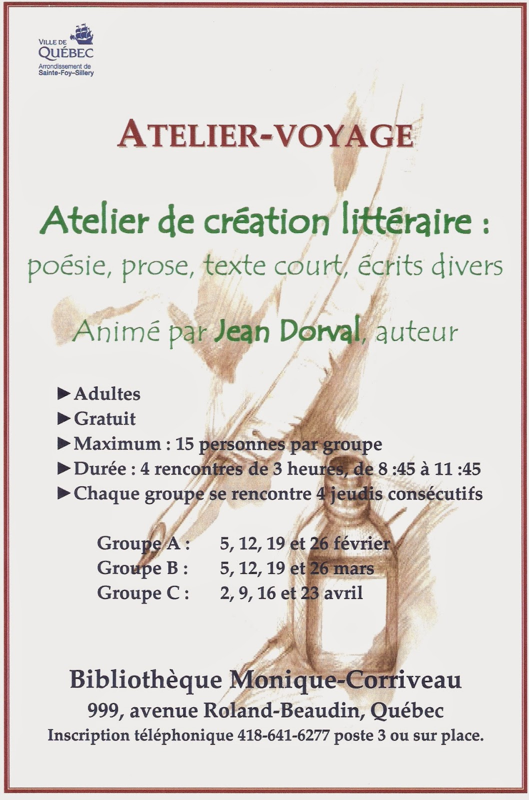 Assez Jean Dorval poète: Poésie éducative/ L'atelier-voyage WU52