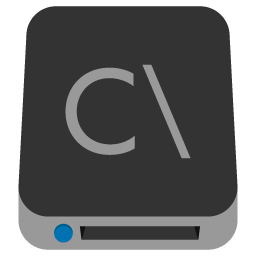 Preview of drive icon, C drive icon, disk drive folder icon