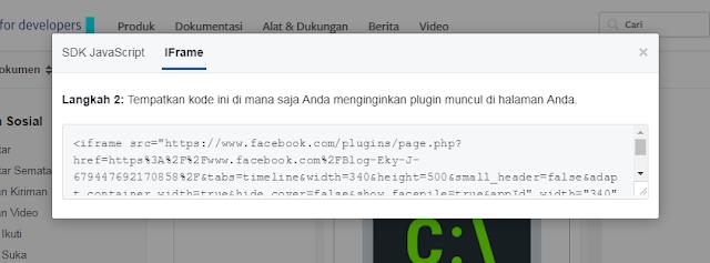 Cara Memasang Widget Facebook Fanspage di Blog