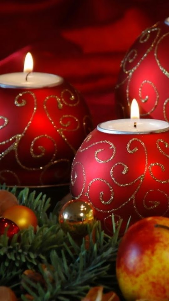 Red Christmas Candles  Galaxy Note HD Wallpaper
