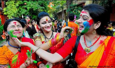 Happy Holi 2018 wishes Bengali Images