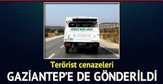 Gaziantepe 20 terörist cenazesi gönderildi