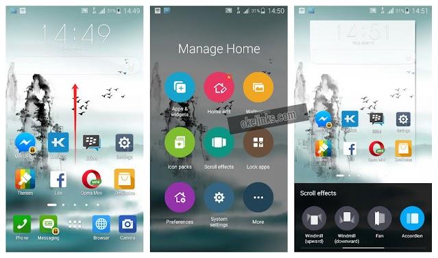 Aplikasi launcher android dengan efek keren