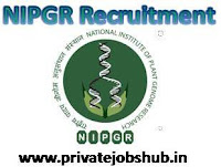 NIPGR Recruitment