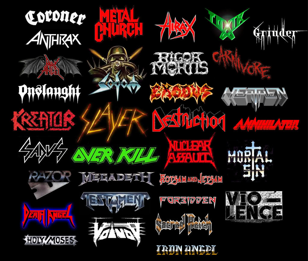 Thrash Metal | Randomonia Wiki | FANDOM powered by Wikia |Thrash Metal Band Logos
