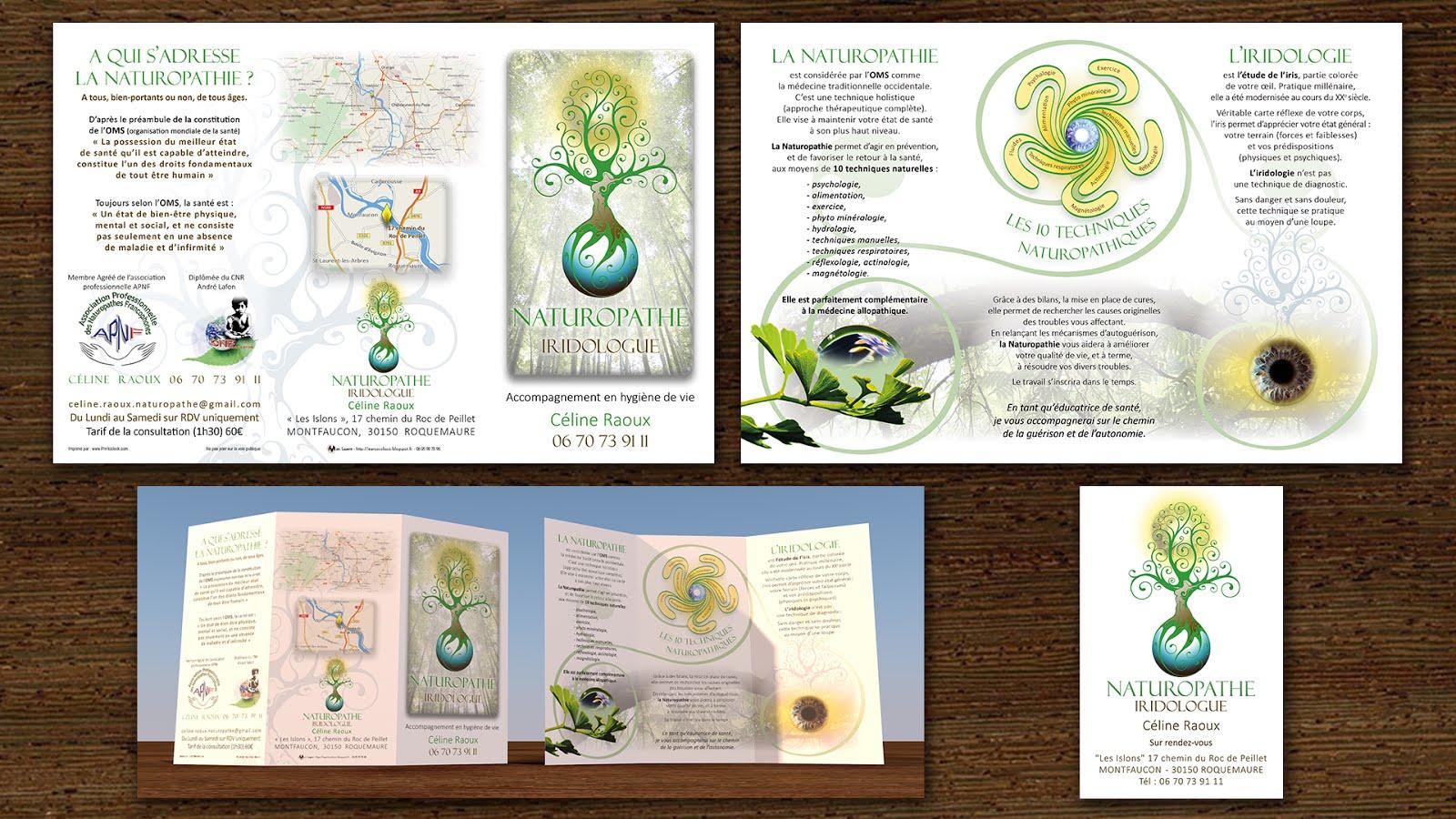 carte de visite naturopathe Dépliant & Carte de visite Naturopathe Iridologue Pour Céline