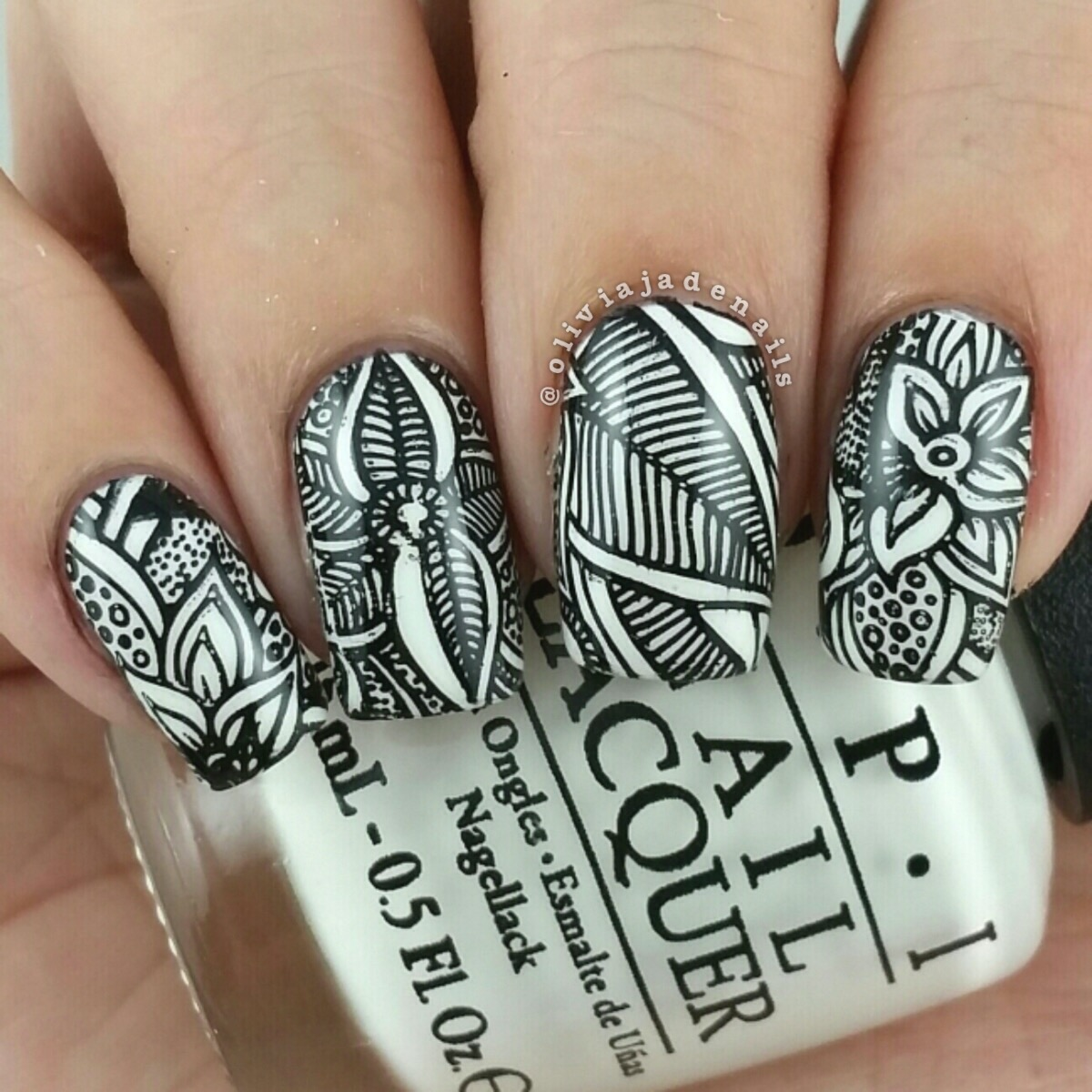 Olivia Jade Nails Bundle Monster Paisley Flow Stamping Collection