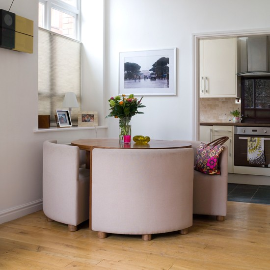 Salas de jantar com mesas redondas decora o e inven o - Smart ideas for small spaces ideas ...