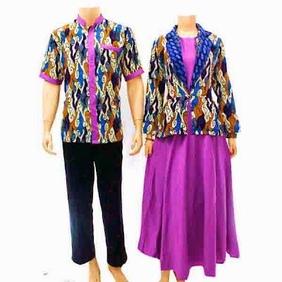 Kumpulan Model Batik Muslim Couple Modern Terbaru