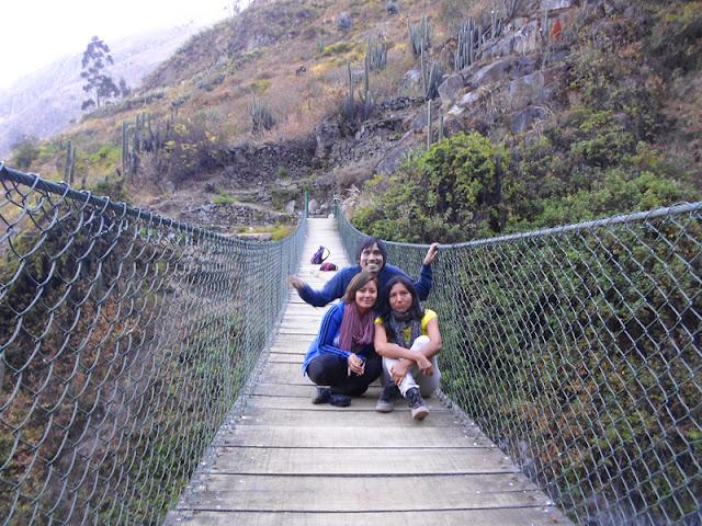 Cascada Mortero - Puente colgante