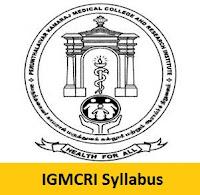 IGMCRI Syllabus