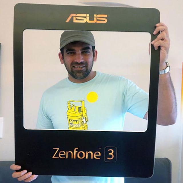 Zaheer Khan promotes Asus Zenfone 3 series smartphones - Cricketer Zaheer Khan clicked during promotion of Asus Zenfone 3 series smartphones.