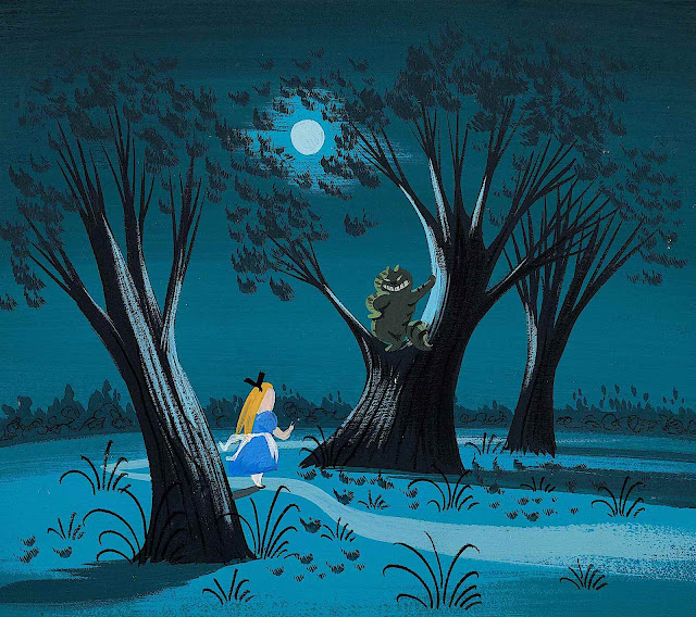 a Mary Blair color design from Alice in Wonderland