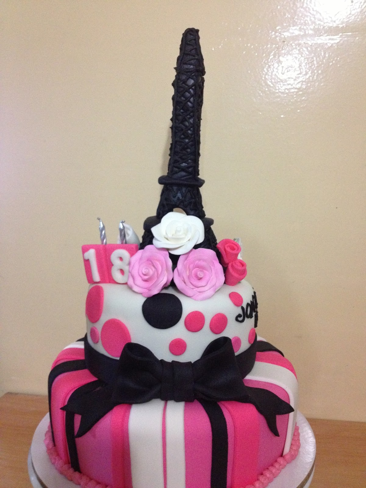 Eiffel Tower Cake Kiddie Affairs Custom Cakes