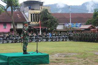 Dandim 0106/Ateng-BM Pimpin Apel Gabungan Bencana Alam