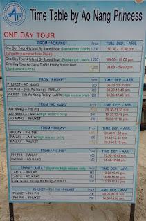 Precio botes Ko phi phi, islas, tailandia, ferrys, tarifas, Lanta