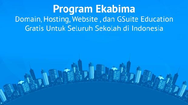 Wujudkan 1 Juta Website Gratis untuk Sekolah Melalui Program Ekabima