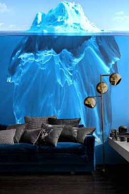 funny 3D mural wallpaper ideas for walls