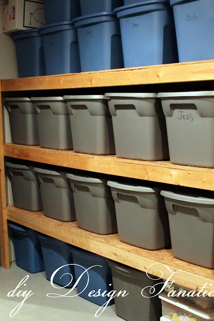 storage shelves, diy storage shelves, basement storage, garage storage