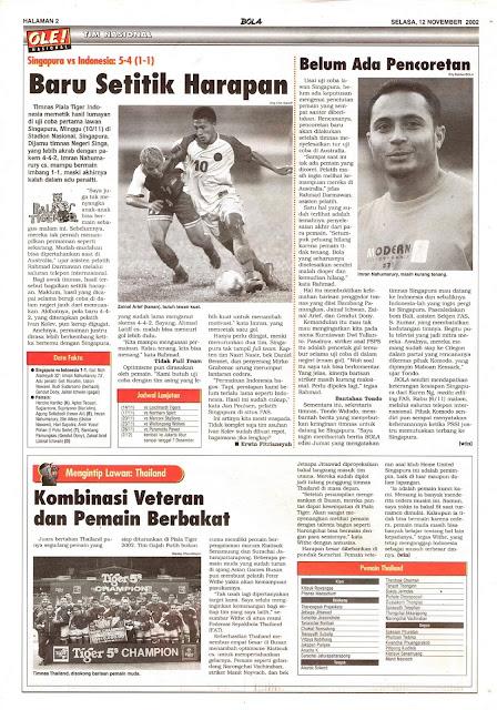 SINGAPURA VS INDONESIA 5-4 (1-1) BARU SETITIK HARAPAN