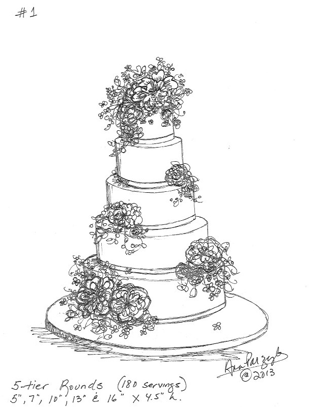 sketches of wedding cakes for the of cake by garry amp parzych july 2013 20176