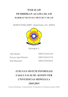 Cover Makalah yang Baik Universitas Sriwijaya (UNSRI)